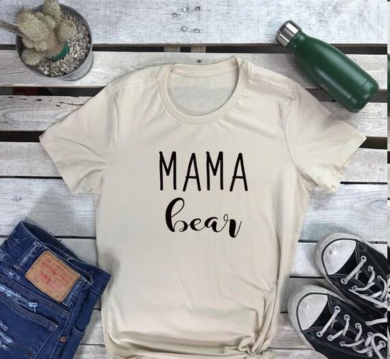Mama Bear Mom Mommy Women's Short Sleeve Crewneck T Shirt