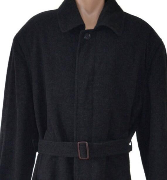 Classic Men Winter Jacket Coat Mens Overcoat long Man Coat Frock Vintage Wool r7WPpTr4