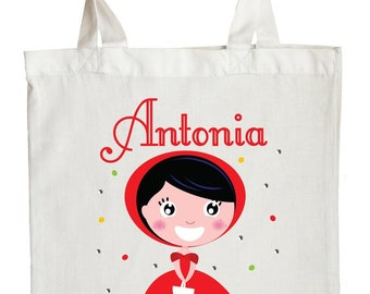 Little Red Riding Hood Trick or Treat Bag, Personalized Little Red Riding Hood Halloween Bag