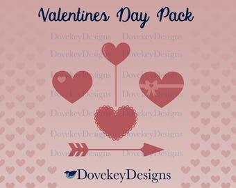 Valentine's Day Pack for Cricut/Silhouette (svg)