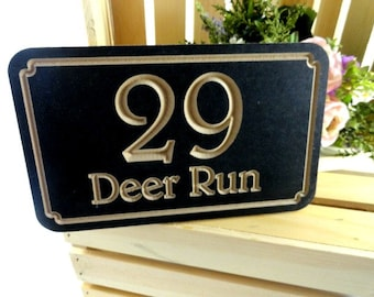 Address Number Sign - Outdoor House Number - Custom Address - Street Number Sign - House Number Plaques - New House Gift - Wood Sign