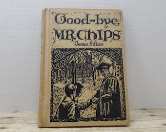 Good Bye Mr. Chips, 1960, James Hilton, vintage book, young reader