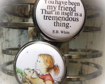 Friendship Bracelet, Friendship Gift, Best Friend, Bracelet, Friends Jewelry, Charlotte's Web, Charlotte's Web Gift, Jewelry, E.B. White