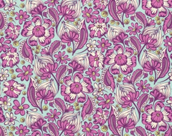 CHIPPER by Tula Pink for Free Spirit Fabrics - Wild Vines in Raspberry
