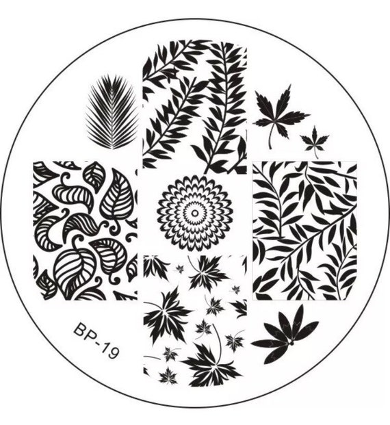LEAVES Nail Art Stamping Plate - Fall Leaves, Tropical Plants ...