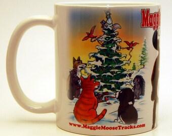 FEEL PAWSOME! MaggieMooseTracks Christmas Star Mug!