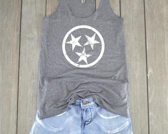 Stars Tank Top   Tennessee Tank Top - Stars Shirt - Tennessee Shirt - Racerback Tank Top