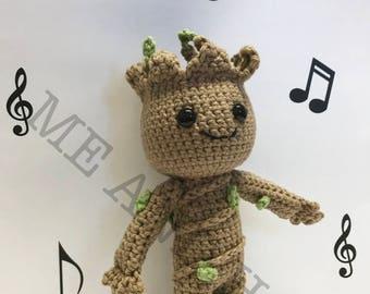 Amigurumi Patterns Groot : Baby groot amigurumi crochet plush guardians of the galaxy