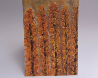 "Watercolor ""Trees in Fall"" Card Sets 4x6inch"