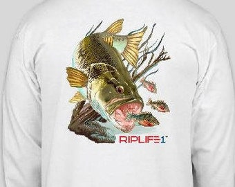 Large Mouth Bass Long Sleeve Shirt from RIPLIFE1