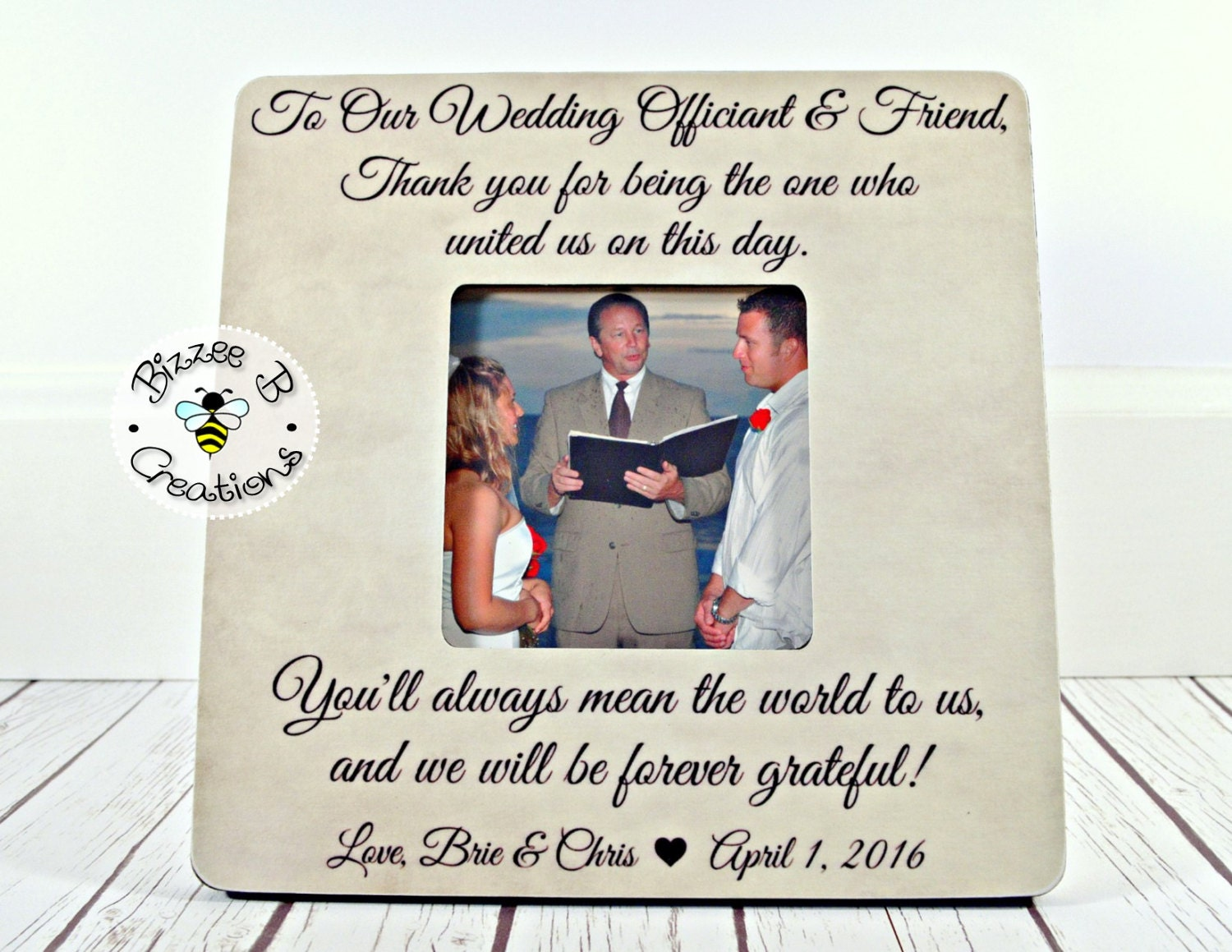 ON SALE Wedding Officiant Gift, Friend & Wedding Officiant, Wedding ...
