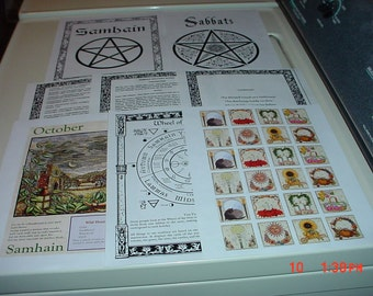 Super Huge Beautifully Illustrated Sabbats Book of Shadows Pages (over 90 pages)
