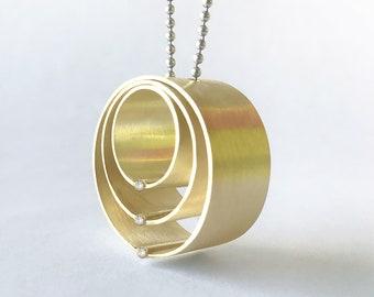"14k yellow gold and diamond pendant, ""Family Circle"""