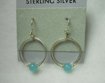 Aqua Marine Beaded Earrings