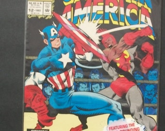 1993 Captain America  Annual #12  64 pages  New Superhero The Battling Bantam Vf-NM Polybagged With Card Vintage  Comic Book Marvel Comics