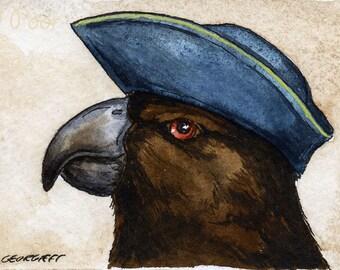 The Raiatea Parakeet  ~~ No 77 of 100 series- ~ signed watercolor print