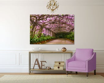 Beautiful Gallery Wrapped Canvas - Wisteria in Spain