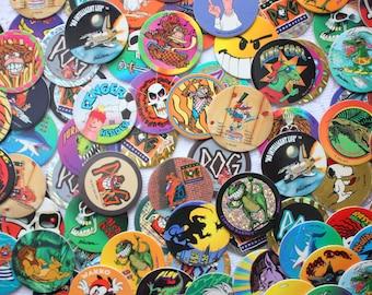 Set of 20 Vintage Pogs In Plastic page, Vintage Milk Caps  Game, Lion King Pogs, Caveman Pogs, Street Caps, Poison Pogs,