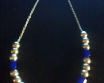 Silver Plated and Blue Resin Prayer Worry Beads, From Greece with Love