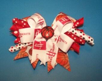 Houston Rockets Hair Bow