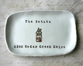 House Warming Gift, Housewarming, Address Sign, Personalized House Warming Gift, Welcome Home Dish