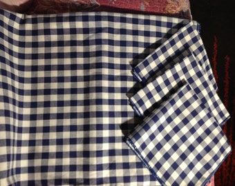 BBQ / Picnic Gingham Tablecloth And 6 Napkins