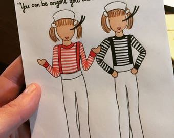 """Mary-Kate and Ashley """"Who Would You Be?"""" Greeting Card"""