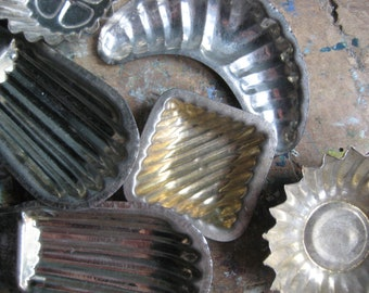 Vintage French baking tins, chocolate moulds, vintage kitchen supply