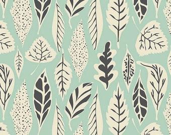 Hello Bear, Leaflet Eucalyptus, Woodland Fabric, Art Gallery Fabrics, Mint Fabric ,Woodland Nursery,  HBR-4435