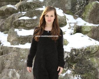 Dress angora hand knitting