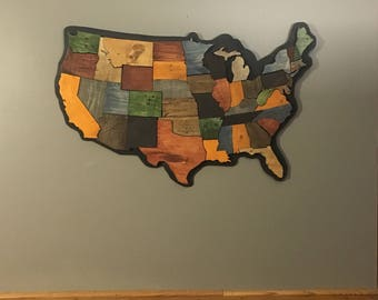United States Map - FREE SHIPPING! - Pallet Wood