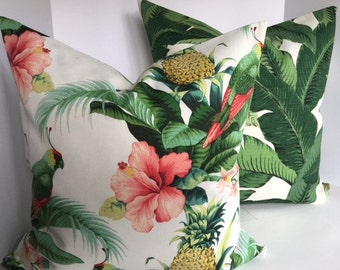 Tommy Bahama Beach and Palms Pillow Cover in Indoor Outdoor Fabric