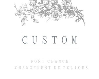 Change of font