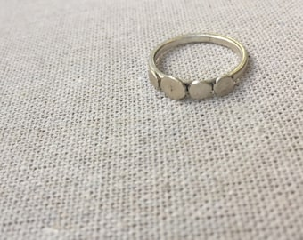 Recycled sterling silver Prospector stacking ring