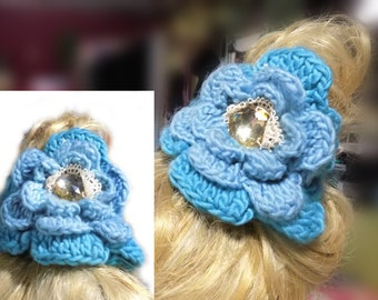 Crochet messy bun , crochet ponytail wrap , ponytail cover , head wrap headband , festival hair , hair accessories women ,    # 19