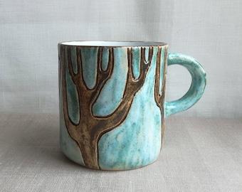 "Mugs ceramic ""trees"""