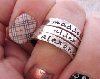 EINE Mutter Ring - Stapeln Ringe - Mutter Schmuck - Mama Ringe - Sterling Silber Stackig Ringe - personalisierte Schmuck - Mütter Ring
