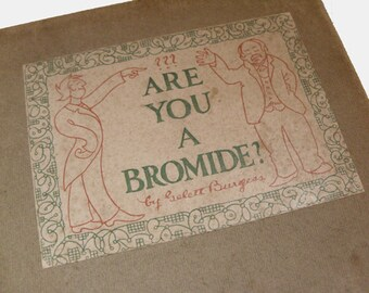 Are You A Bromide?  - Gelett Burgess, 1906 edition, satire and humor book, trite remarks, psychology of boredom