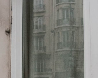 Paris Photography, Paris Print, Paris Decor, Cat in Paris window