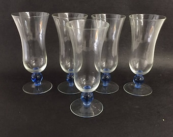 Vintage set of 5 Parfait Glasses