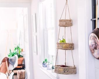 Half Moon Hanging Baskets  Fruit Basket  Hanging Fruit Basket  Home Decor   Kitchen