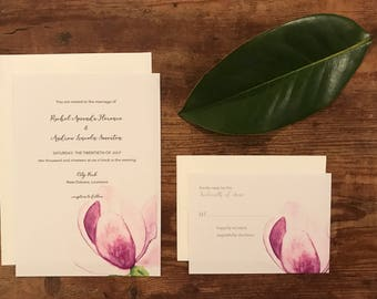 Japanese Magnolia Invitations DEPOSIT