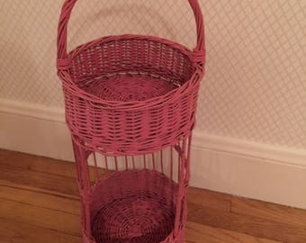 vintage piece of pink wicker