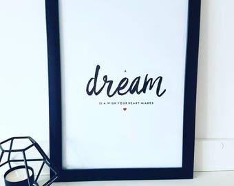 Dream Typography Print