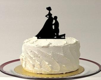 MADE In USA, Pregnant Bride Wedding Cake Topper, Pregnant Wedding Topper, Silhouette Pregnancy Wedding Topper, Pregnant Baby Shower Topper