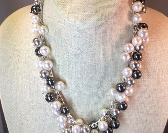 Pearl Bib Necklace (with earrings)
