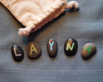 Name Stones, Learning Stones, Personalized gift, Child's gift, Learning tool, customized name gift