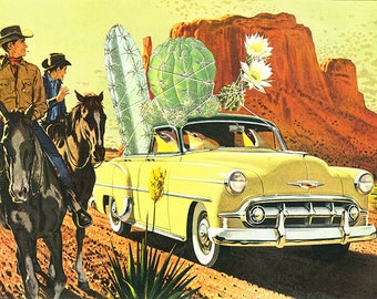 Cactus Poachers. Limited edition print by Vivienne Strauss.