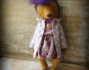 PDF Epattern for 11 inch Artist Mohair Vintage Style Teddy Bear Katya - the pattern for the clothes are included - by Sasha Pokrass