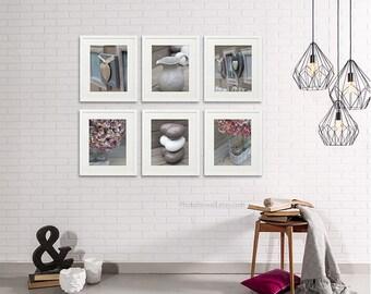 Bathroom wall decor set of 6 prints/newborn girl room decor/bathroom Art/nursery decor/Nursery Art/large wall art/bedroom decor office decor